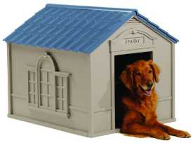 Large plastic dog house -the Monticello
