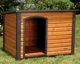 Large wooden dog house